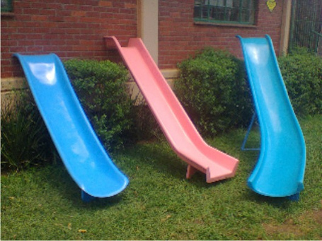 small fibreglass pool slides