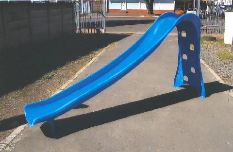 Blue Garden slide with steps