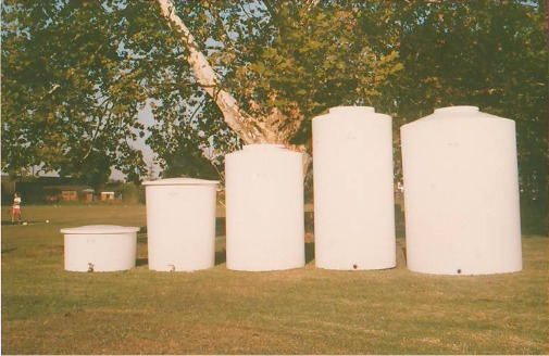 Fibreglass water tanks from large to small