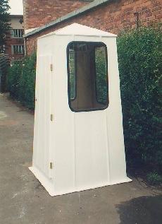 Fibreglass guard house