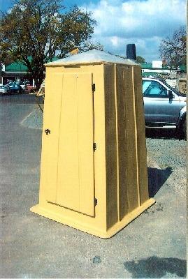 Portable toilets made of fibreglass